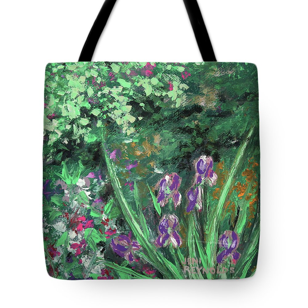 Flower Tote Bag featuring the painting Garden Walk by Jeni Reynolds