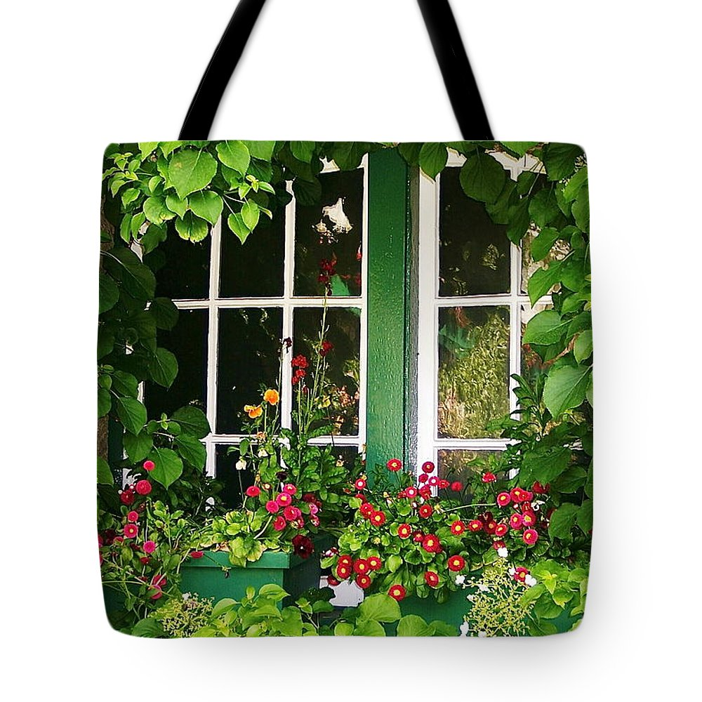 Scenic Tote Bag featuring the photograph Garden Window by Mark Lemon