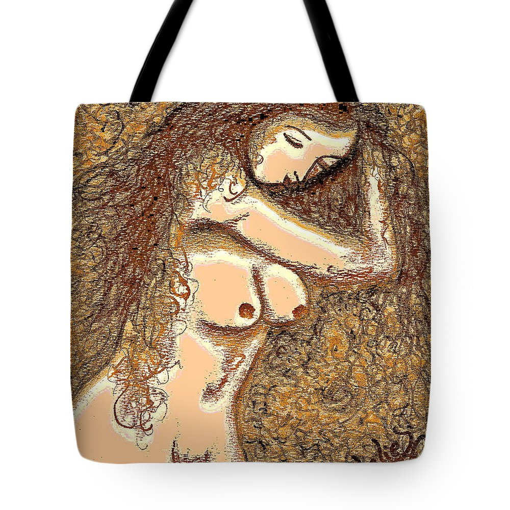 Nude Tote Bag featuring the painting Gardenia by Natalie Holland