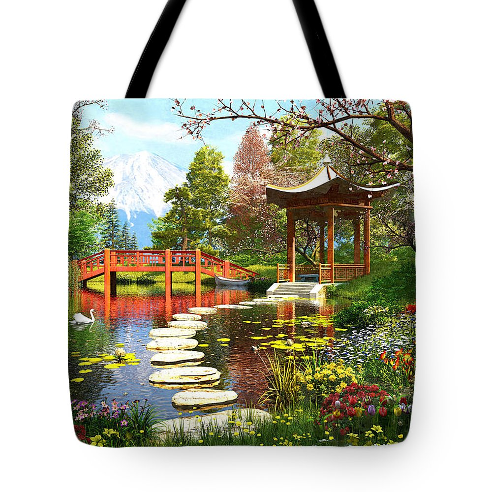 Horizontal Tote Bag featuring the photograph Gardens Of Fuji by Dominic Davison