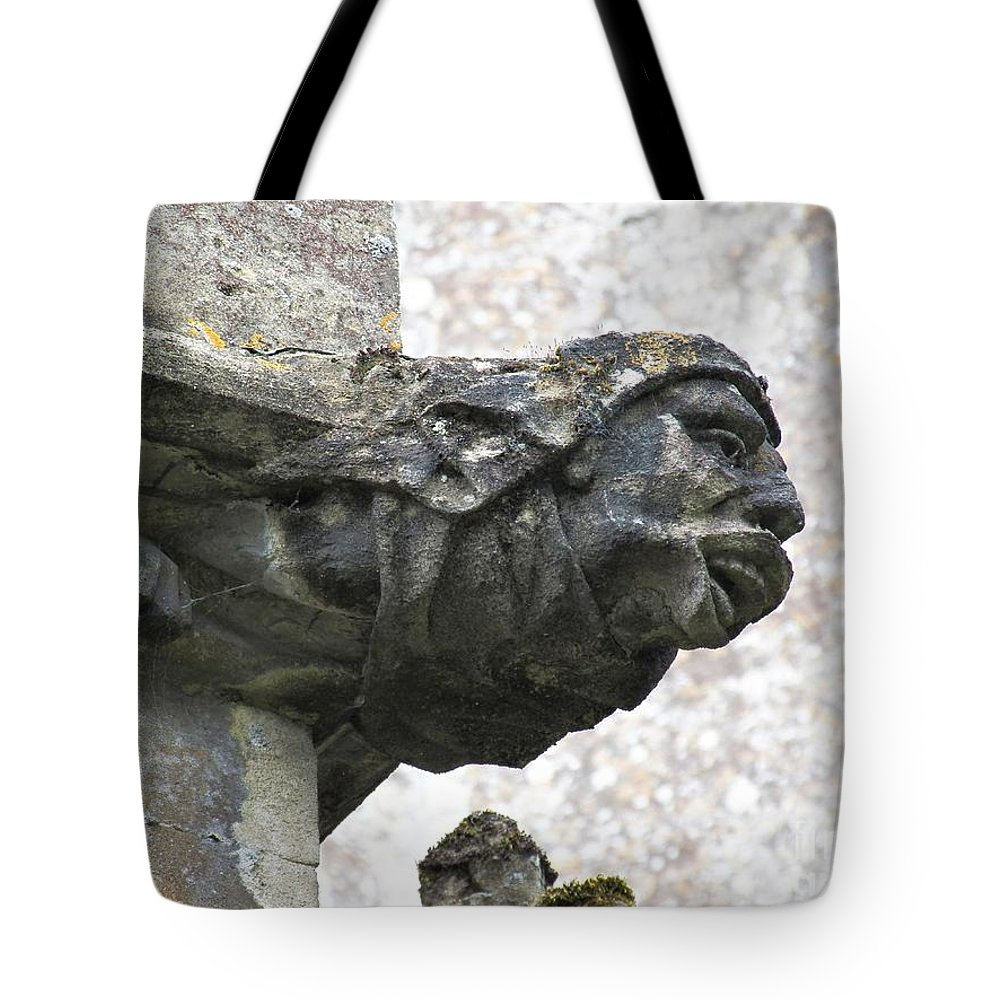 Pewsey Village And Civil Parish Tote Bag featuring the photograph Gargoyle Who? by David A James