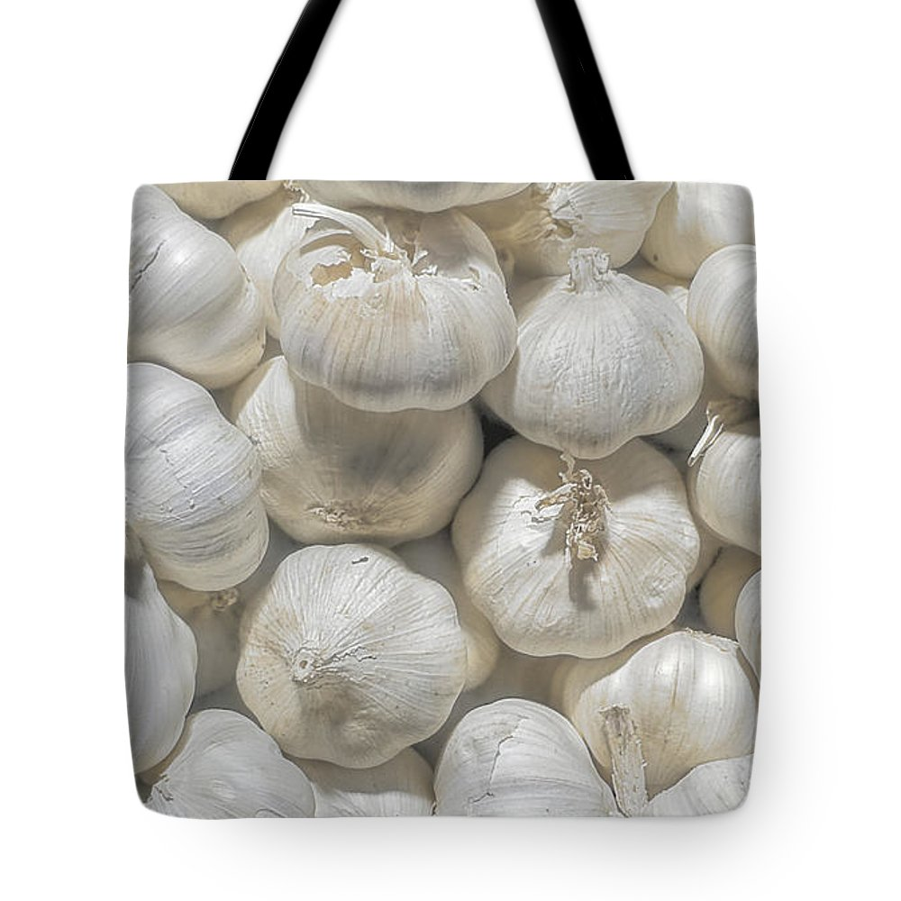 Tote Bag featuring the photograph Garlic by Charuhas Images