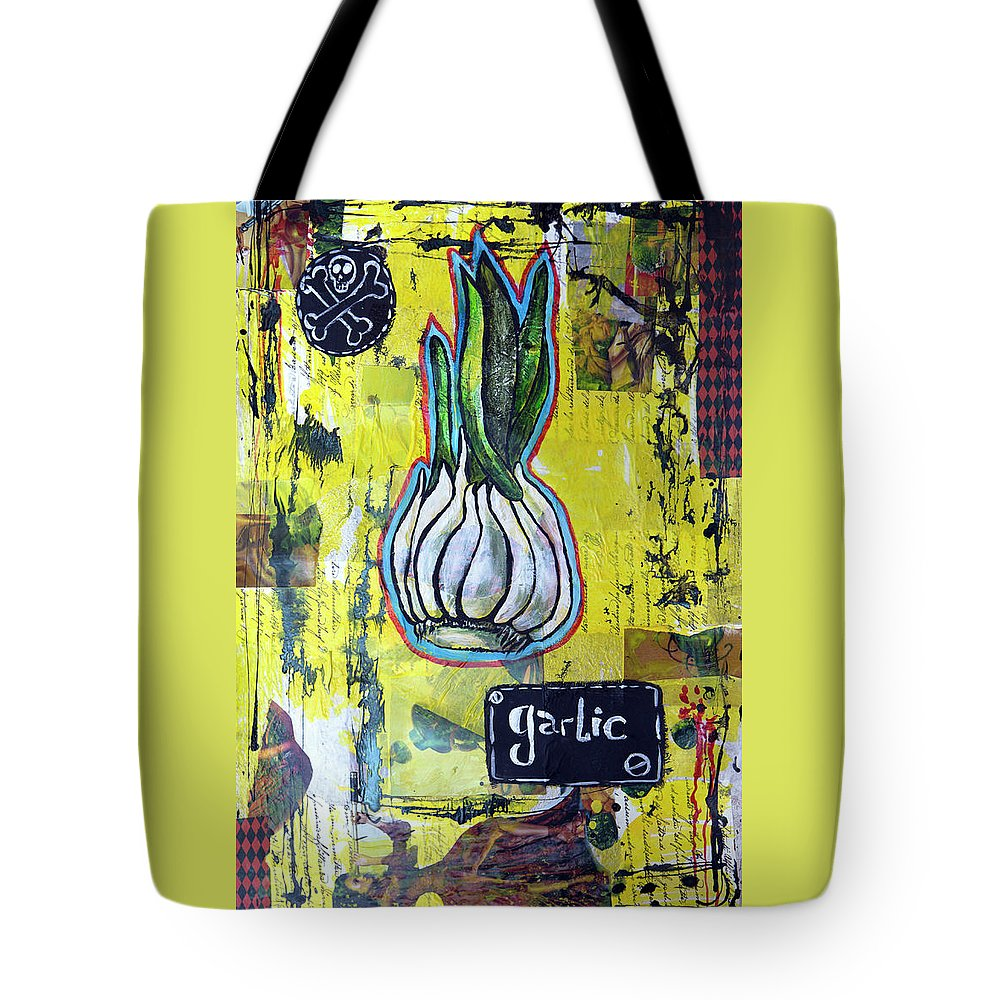 Garlic Tote Bag featuring the painting Garlic by Yana Sadykova