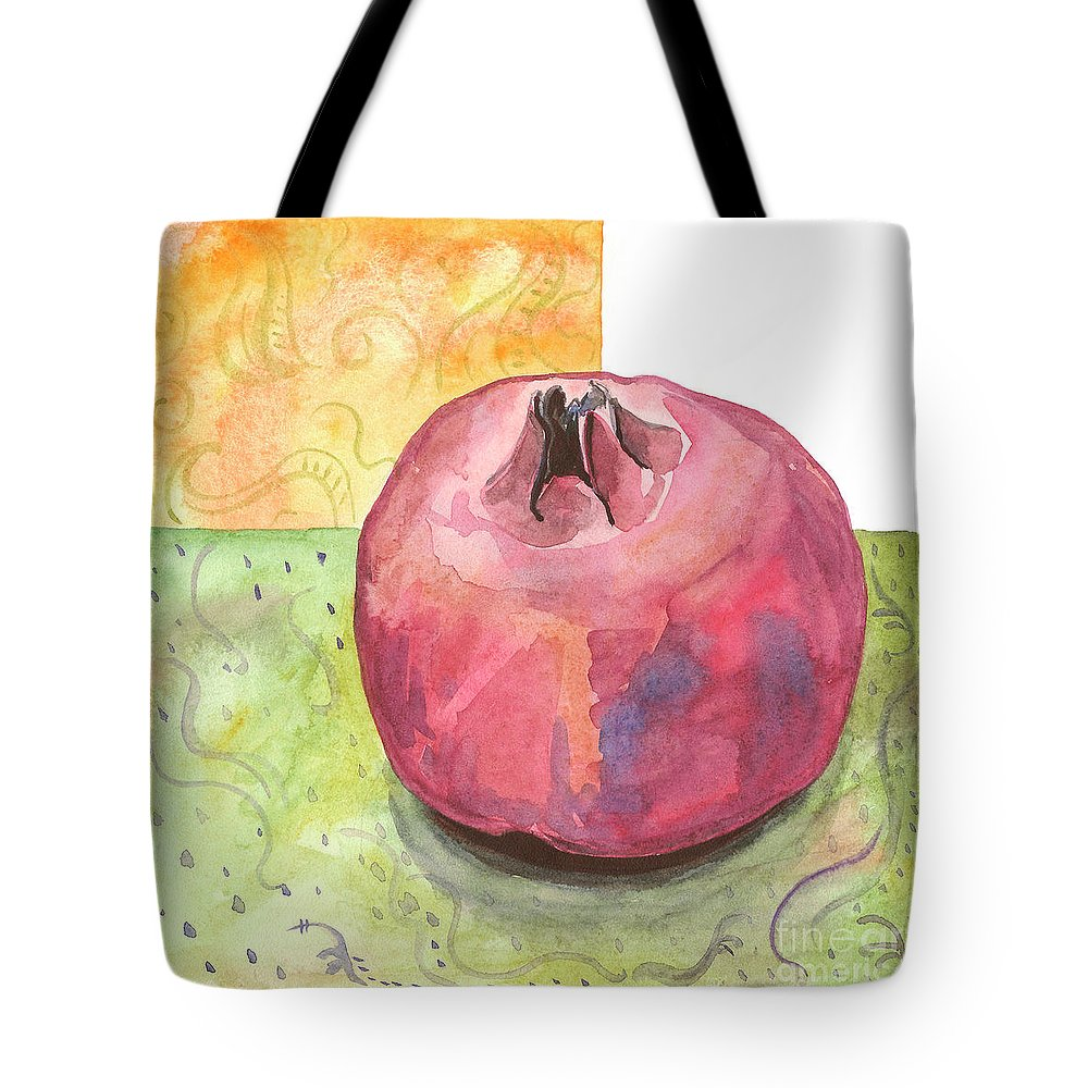 Garnet Tote Bag featuring the painting Garnet by Yana Sadykova