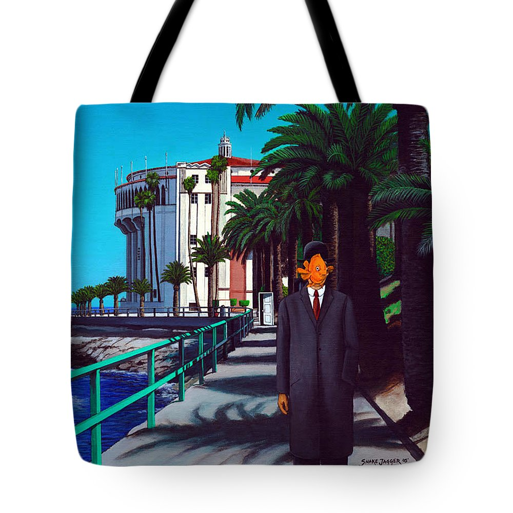 Catalina Tote Bag featuring the painting Gary Baldie by Snake Jagger