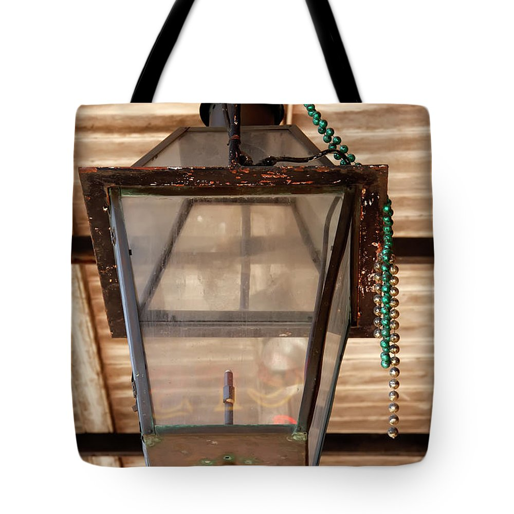 New Orleans Tote Bag featuring the photograph Gas Lamp French Quarter by KG Thienemann