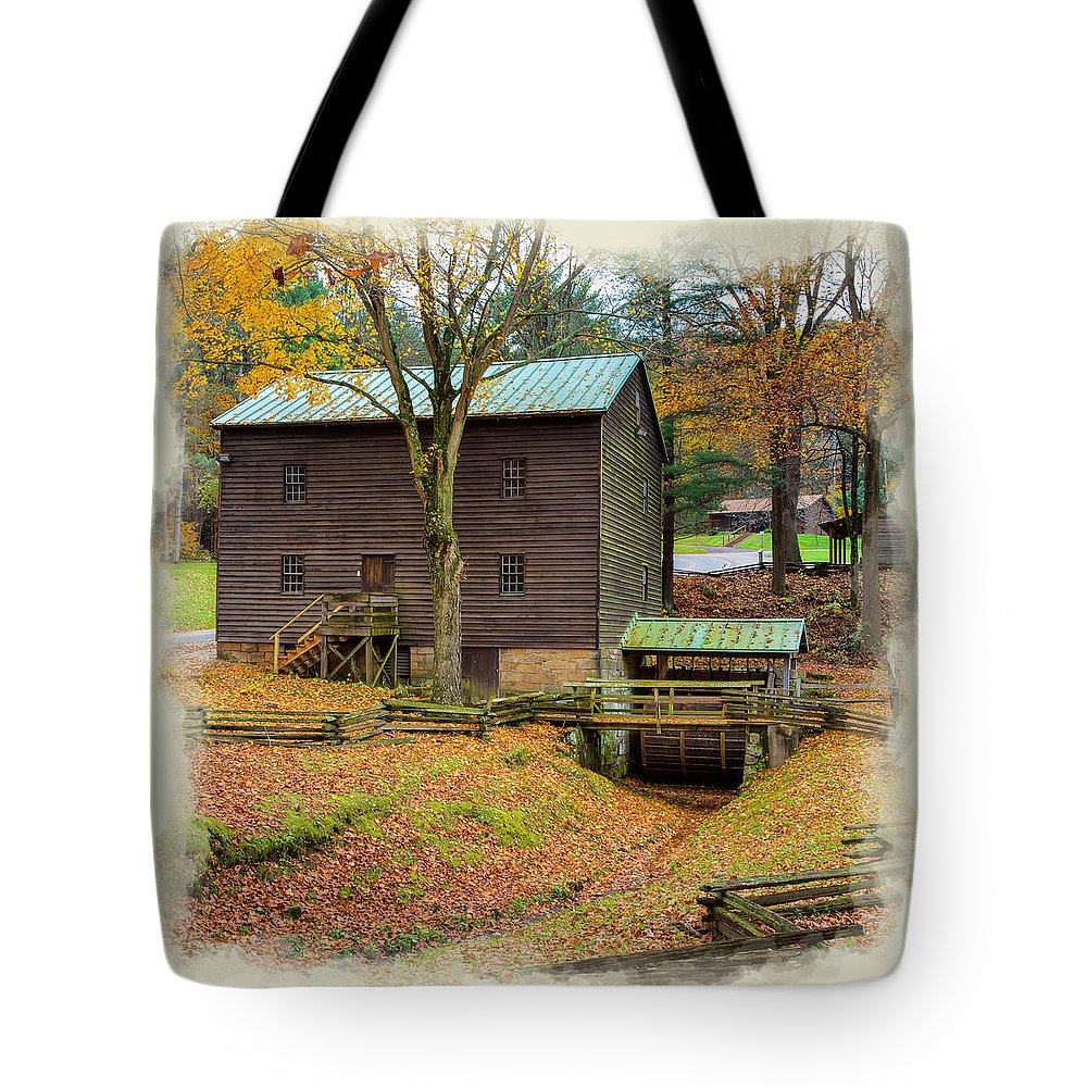 Tree Tote Bag featuring the photograph Gastons Mill 2 by John M Bailey