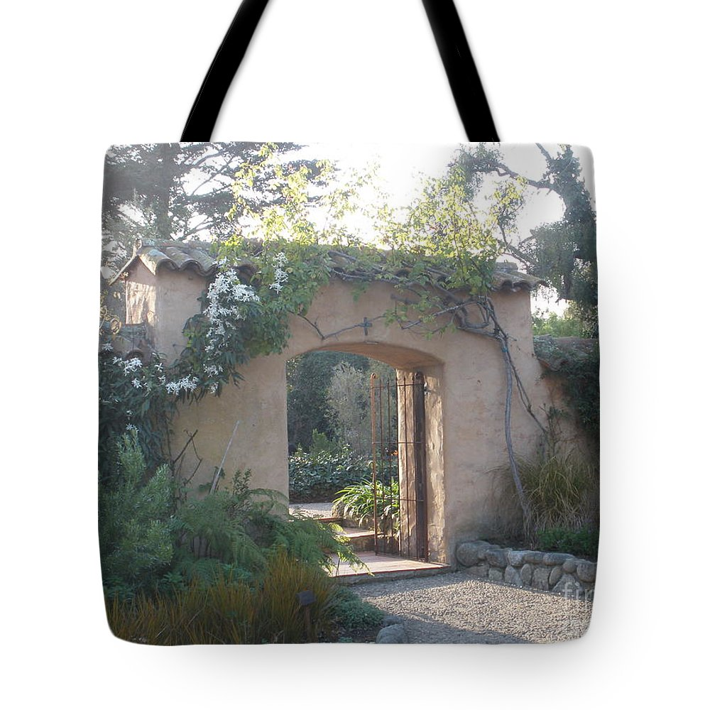 Church Tote Bag featuring the photograph Gate by Jeanie Watson