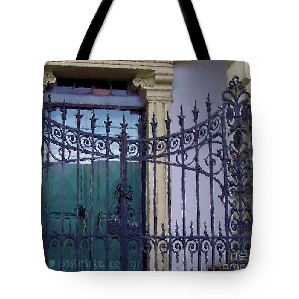 Gate Tote Bag featuring the photograph Gated by Debbi Granruth