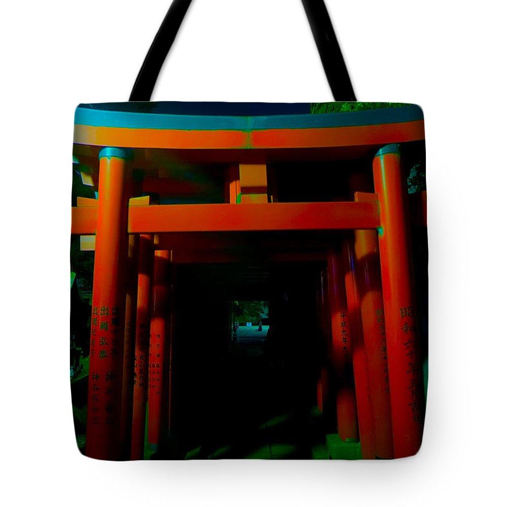 Inari Shrine Tote Bag featuring the photograph Gates Of Inari by Mumbles and Grumbles