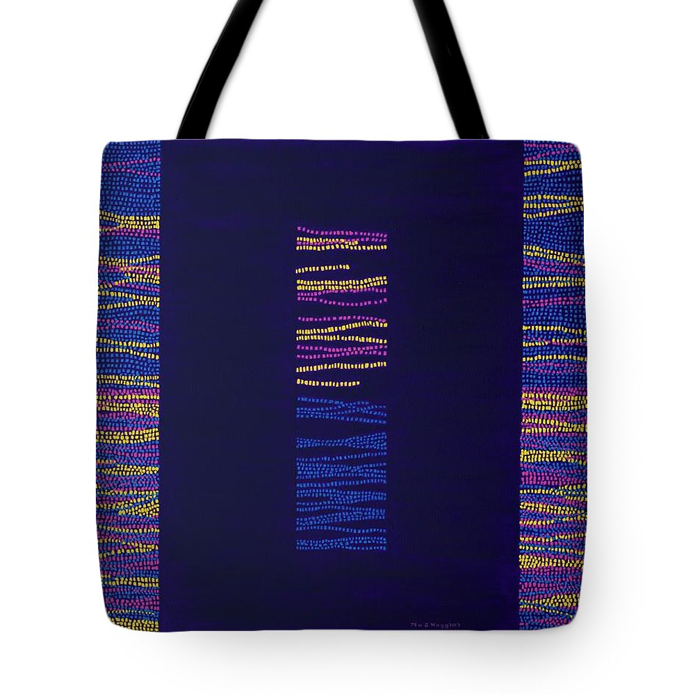 Gates Of Nature Tote Bag featuring the painting Gates Of Nature 9 by Kyung Hee Hogg