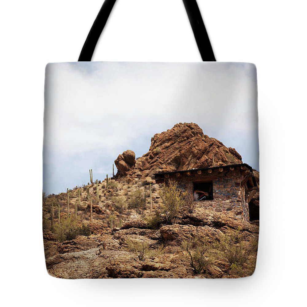Gates Tote Bag featuring the photograph Gates Pass by Warren Still