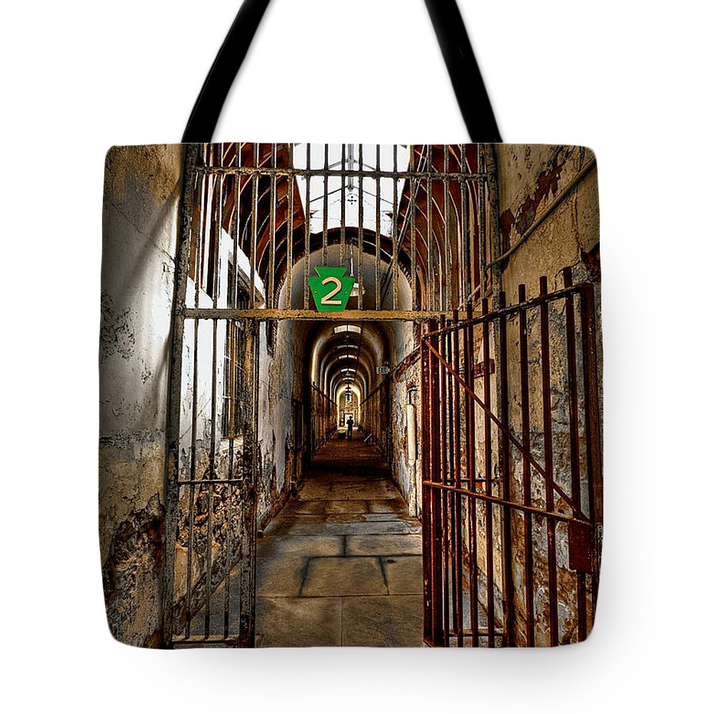 Block Tote Bag featuring the photograph Gateway To Hell by Evelina Kremsdorf