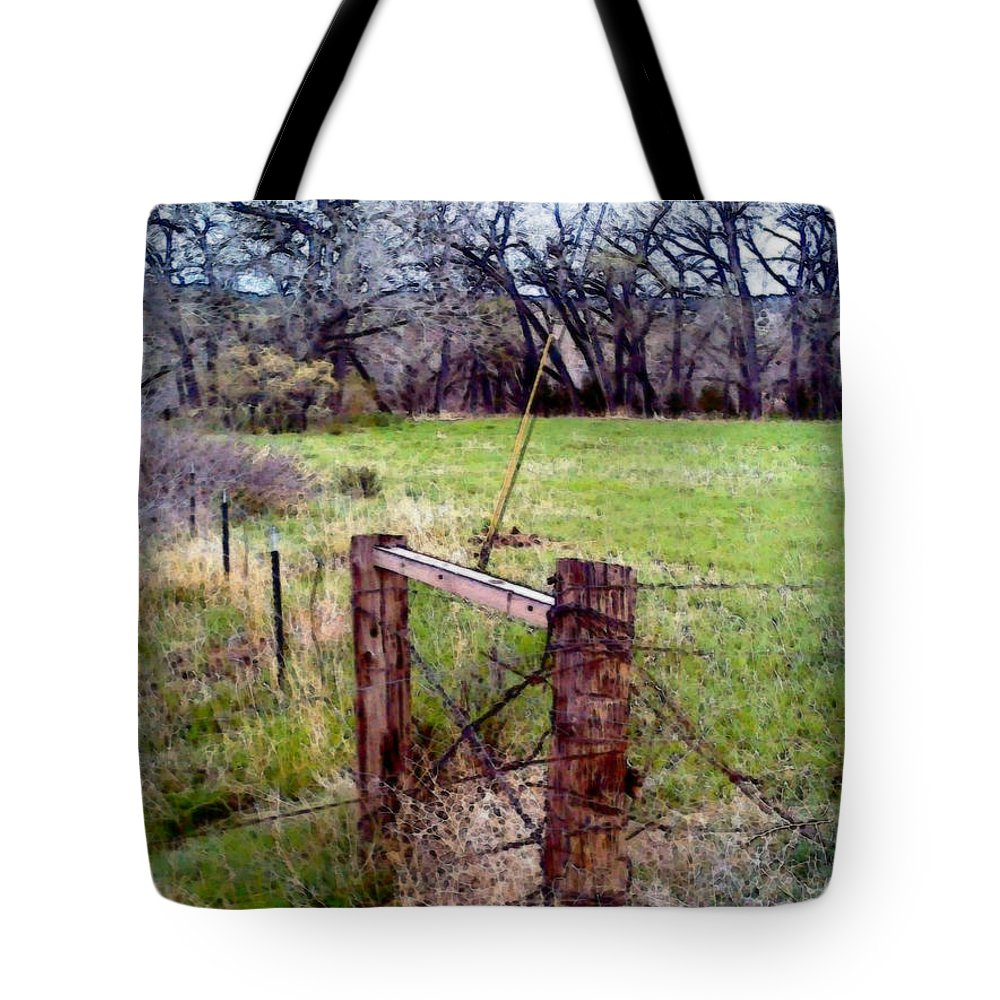 Tote Bag featuring the photograph Gateway To No Where by Kelly Awad