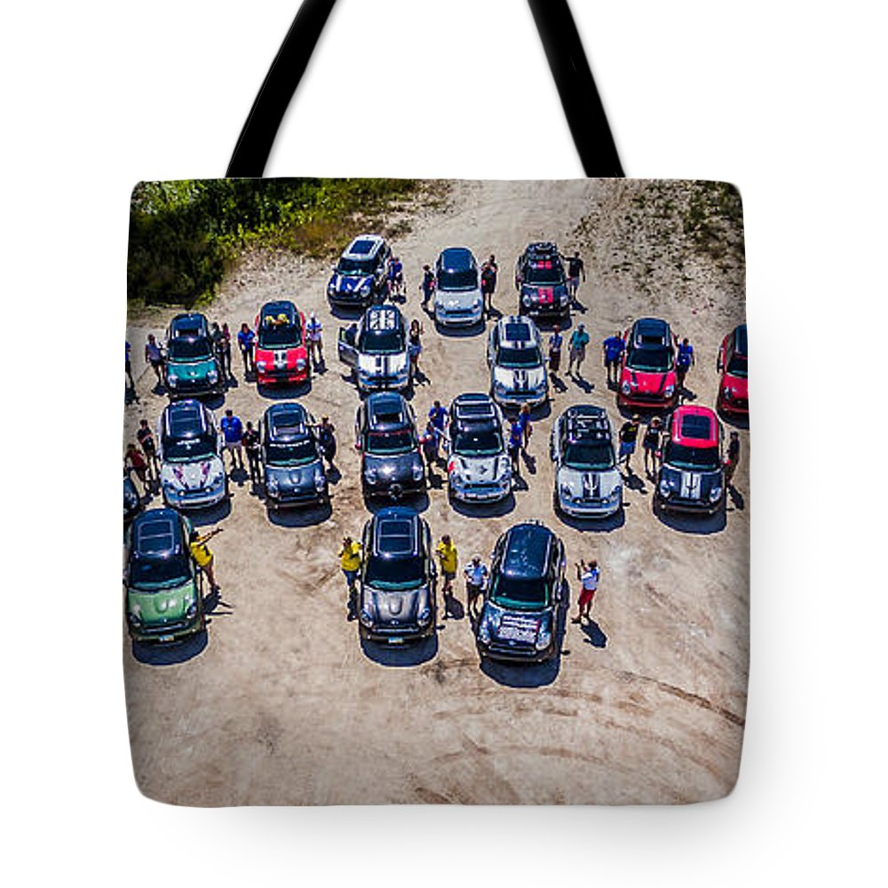 Mini Tote Bag featuring the photograph Gathering Of The R60s by Mike Bober - Northshire Photo