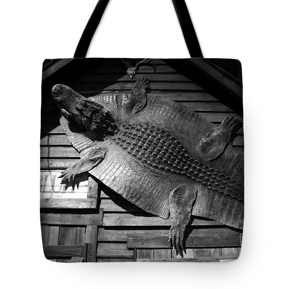 Alligator Tote Bag featuring the photograph Gator Hide by David Lee Thompson