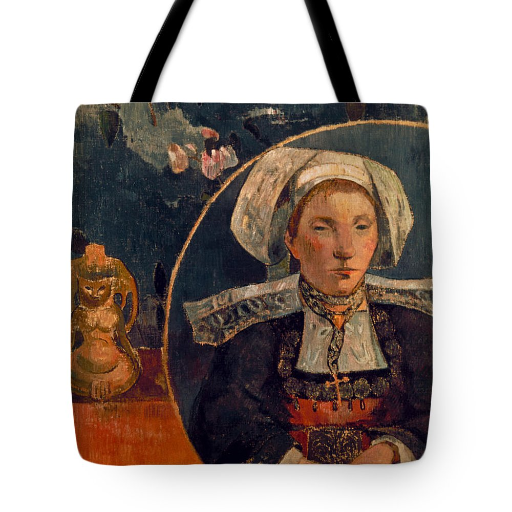 1889 Tote Bag featuring the photograph Gaugin: Belle Angele, 1889 by Granger