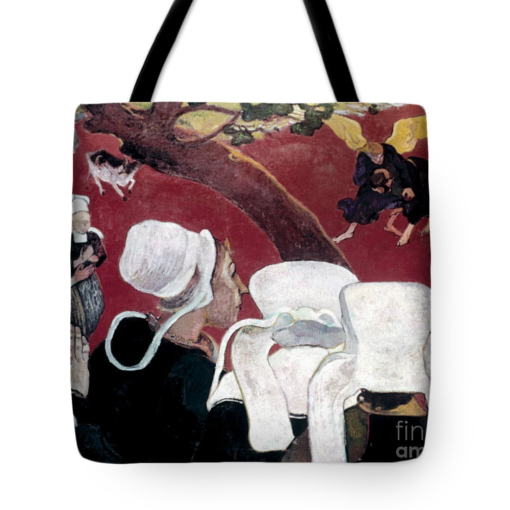 1888 Tote Bag featuring the photograph Gaugin: Vision, 1888 by Granger