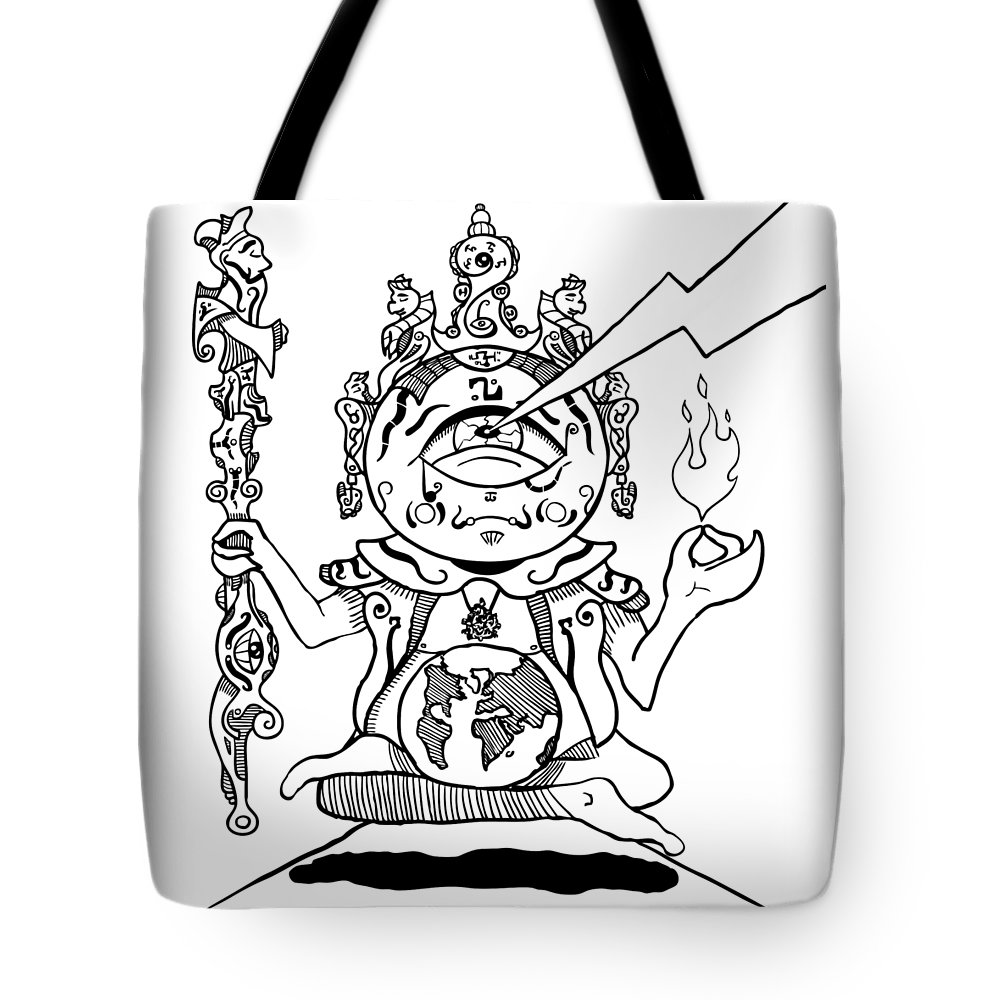 Siddhārtha tote bag featuring the drawing gautama buddha black and white by sotuland art