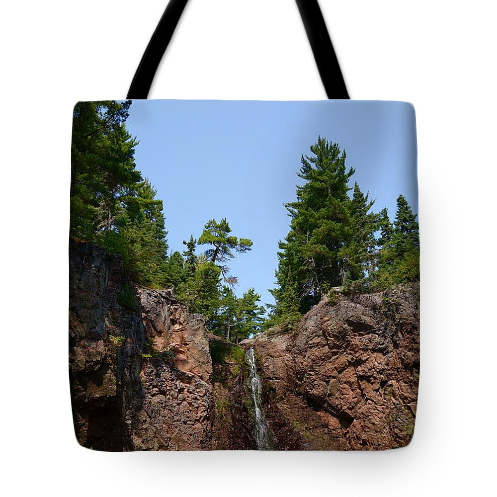Waterfalls Tote Bag featuring the photograph Gauthier Falls In Late August by Sandra Updyke