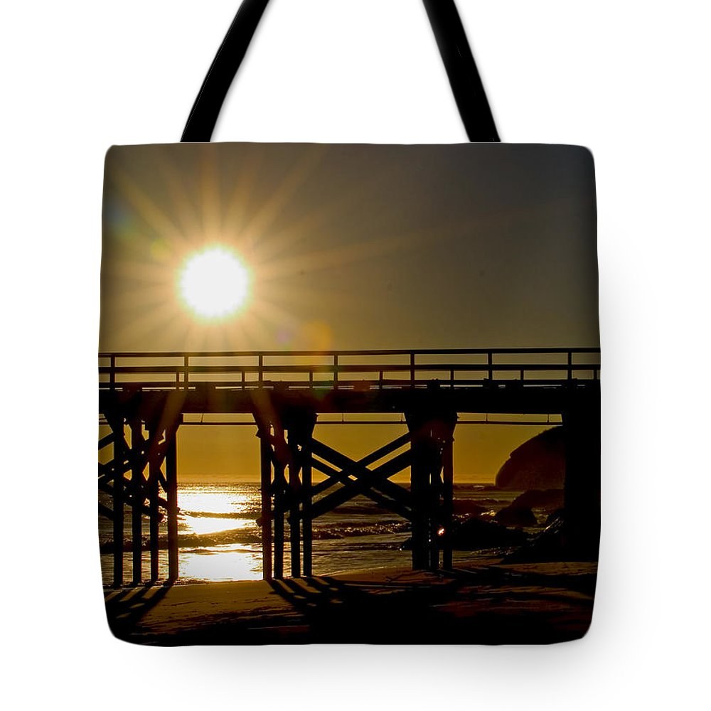 Landscape Tote Bag featuring the photograph Gaviota Sunset by David Salter