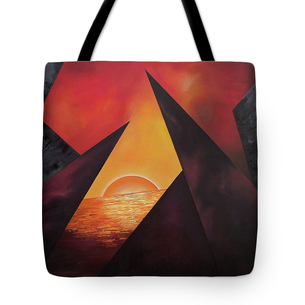 Tote Bag featuring the painting Gazing Beyound by Ara Elena