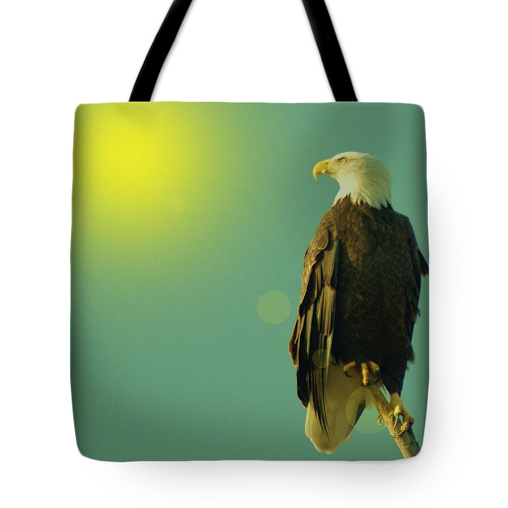 Eagles Tote Bag featuring the photograph Gazing Sunward by Jeff Swan