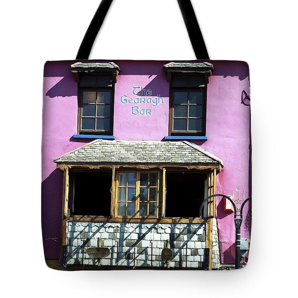 Irish Tote Bag featuring the photograph Gearagh Pub In Macroom Ireland by Teresa Mucha