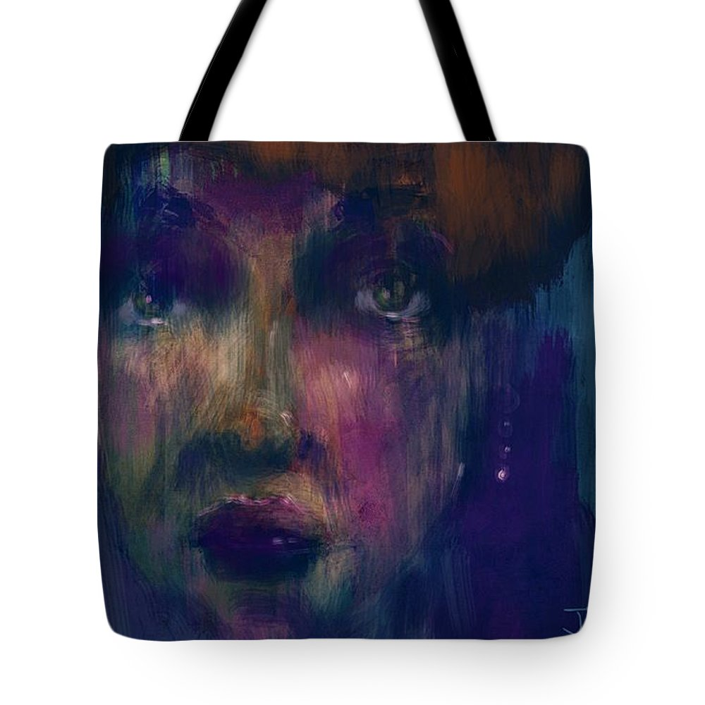 Face Tote Bag featuring the digital art Geez Louise by Jim Vance