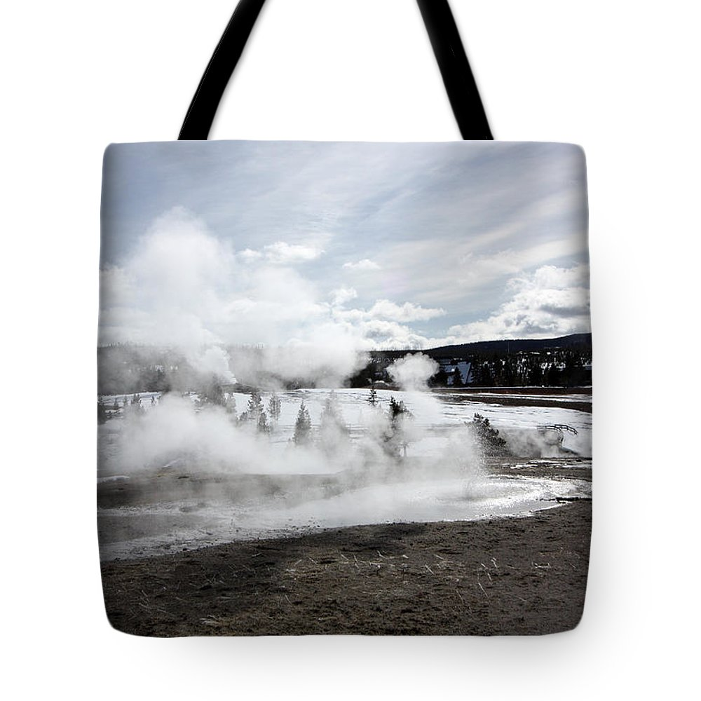 Landscape Tote Bag featuring the photograph Geiser Hill by Mary Haber