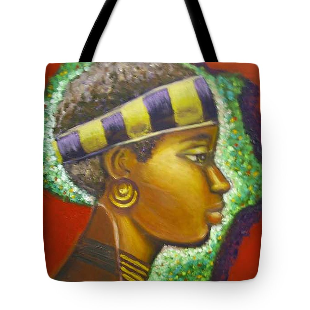 Gem Of Africa Tote Bag featuring the painting Gem Of Africa by Jan Gilmore