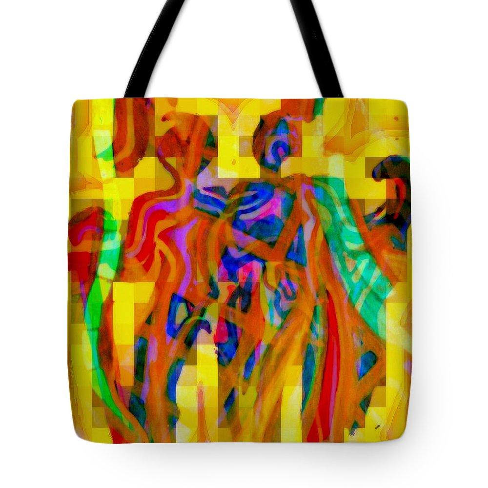 Gemini Tote Bag featuring the painting Gemini II by Wbk