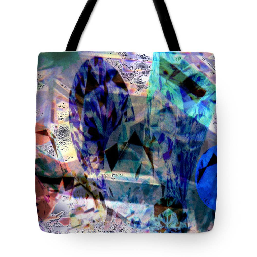 Abstract Tote Bag featuring the photograph Gems Of Ice by Seth Weaver