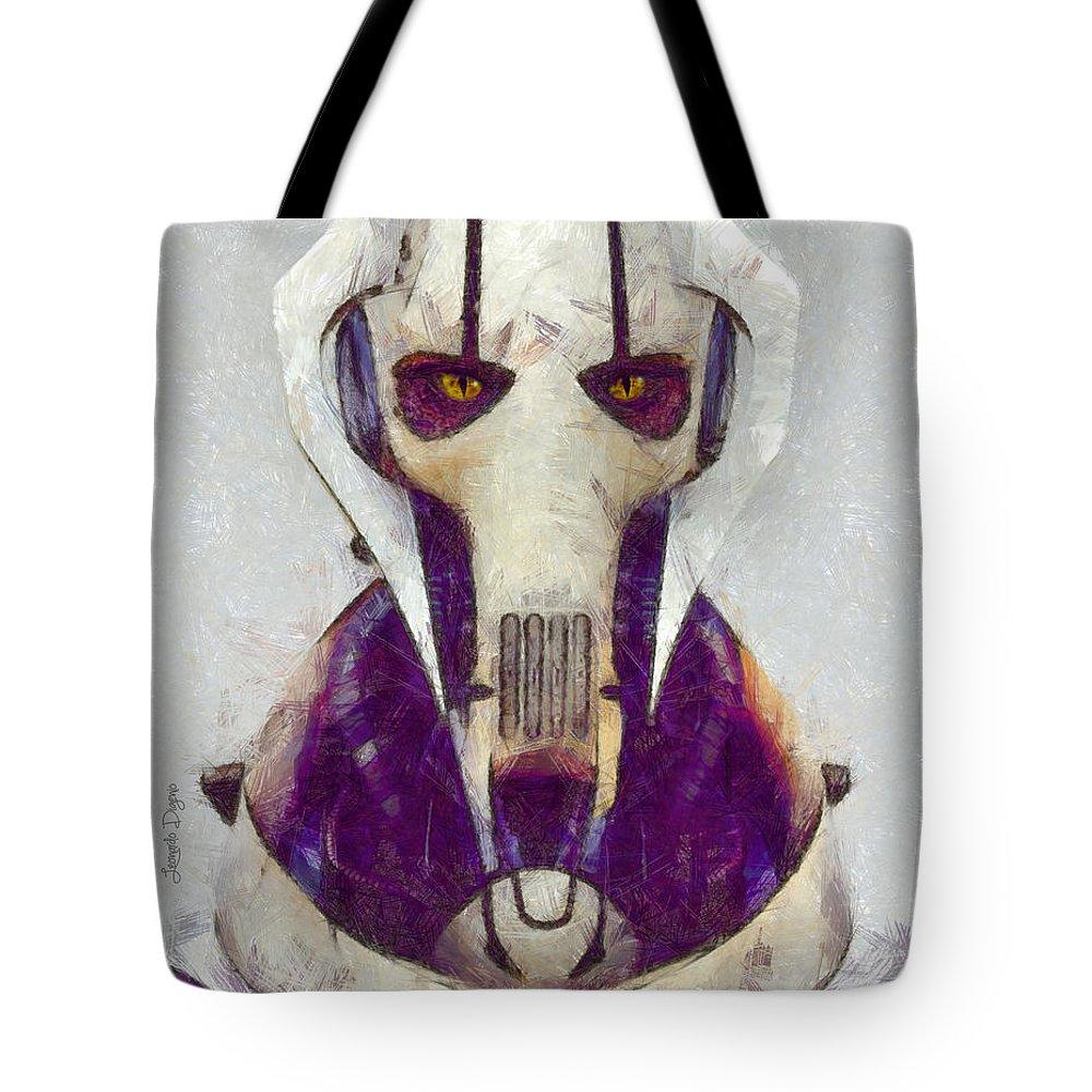 General Grievous Tote Bag featuring the digital art General Grievous - Da by Leonardo Digenio