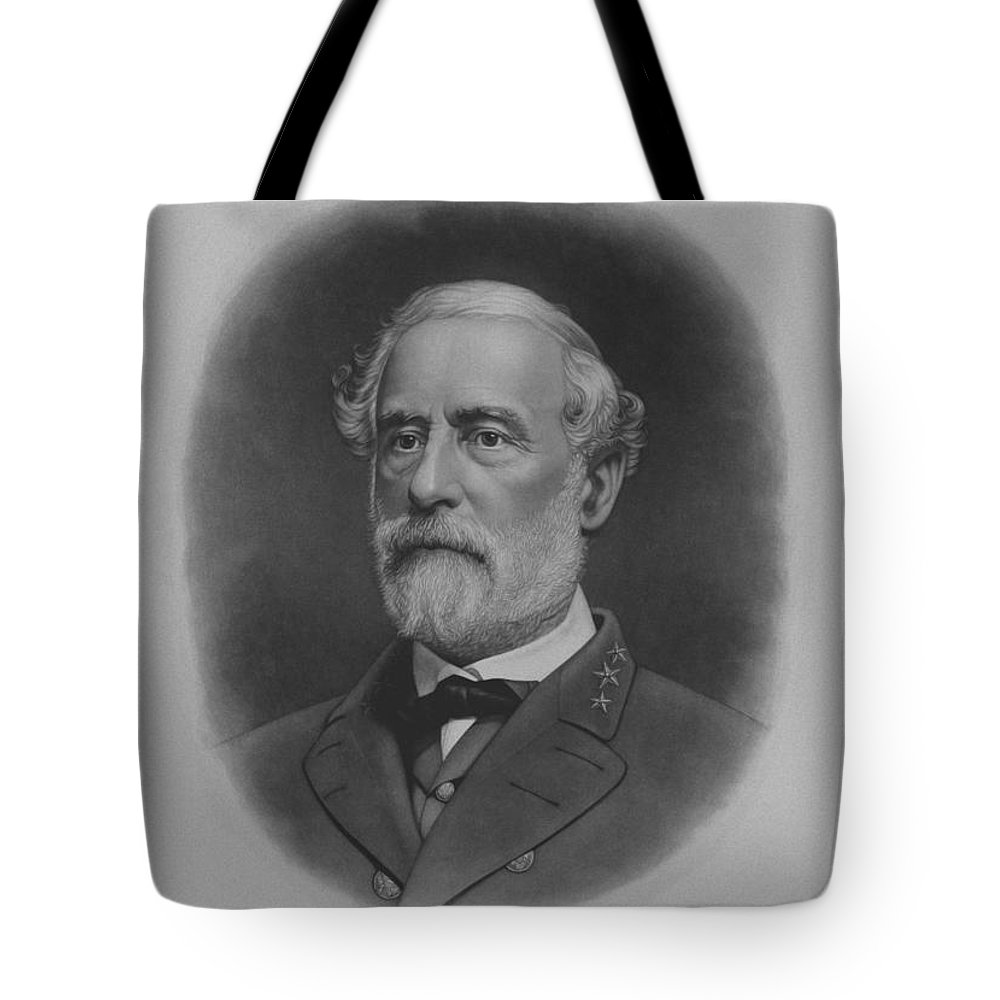 General Lee Tote Bag featuring the painting General Robert E. Lee Print by War Is Hell Store