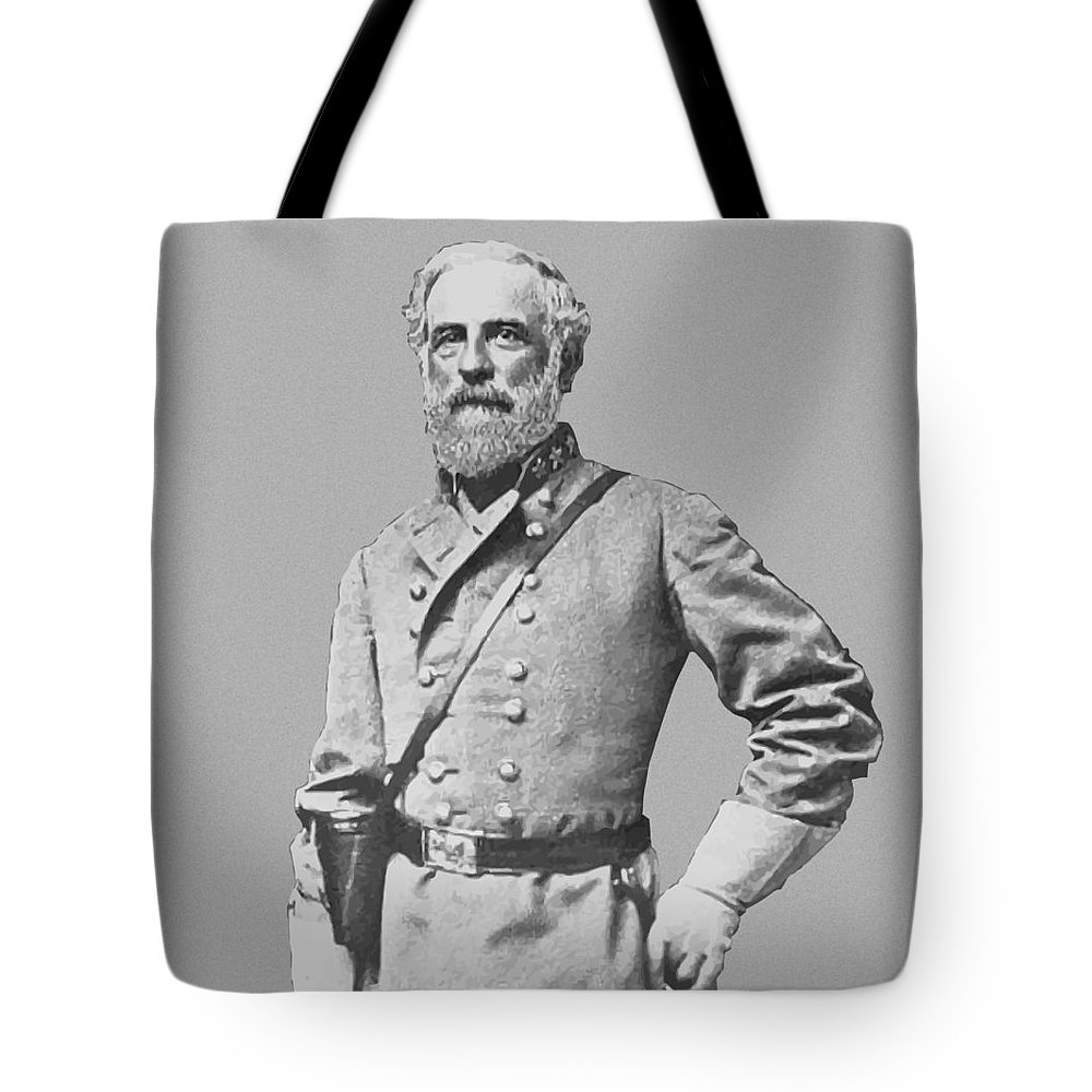 Robert E Lee Tote Bag featuring the painting General Robert E Lee by War Is Hell Store