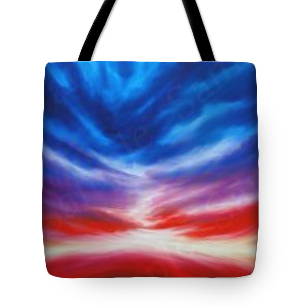 Tempest Tote Bag featuring the painting Genesis IIi by James Christopher Hill