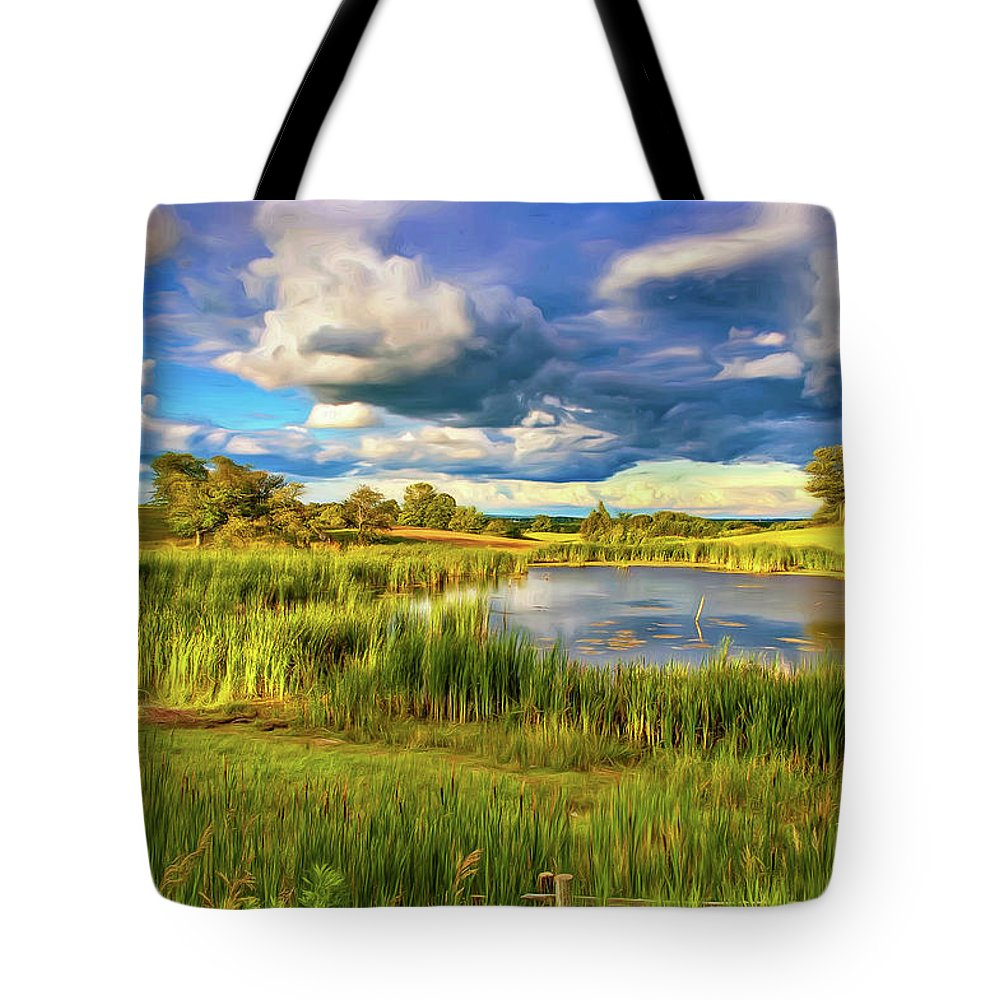Landscape Tote Bag featuring the photograph Genesis - Paint by Steve Harrington