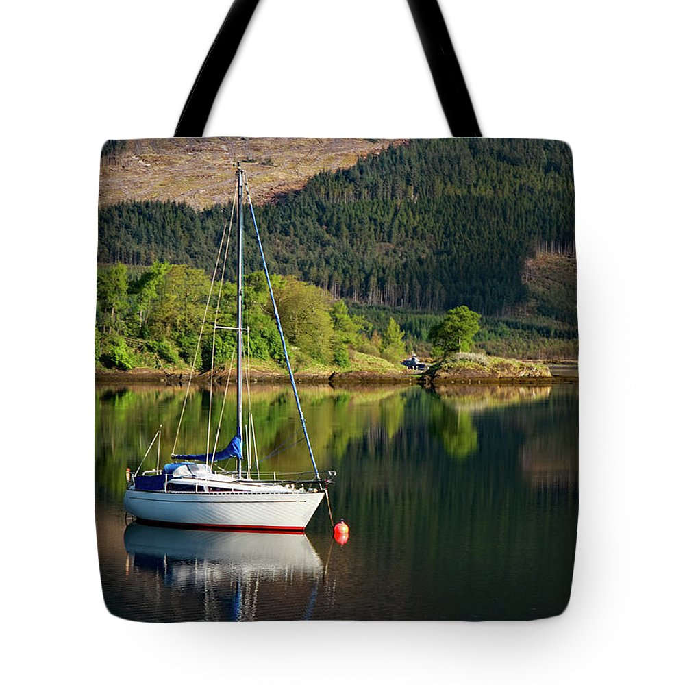 Scotland Tote Bag featuring the photograph Genesta's Island by Martina Schneeberg-Chrisien