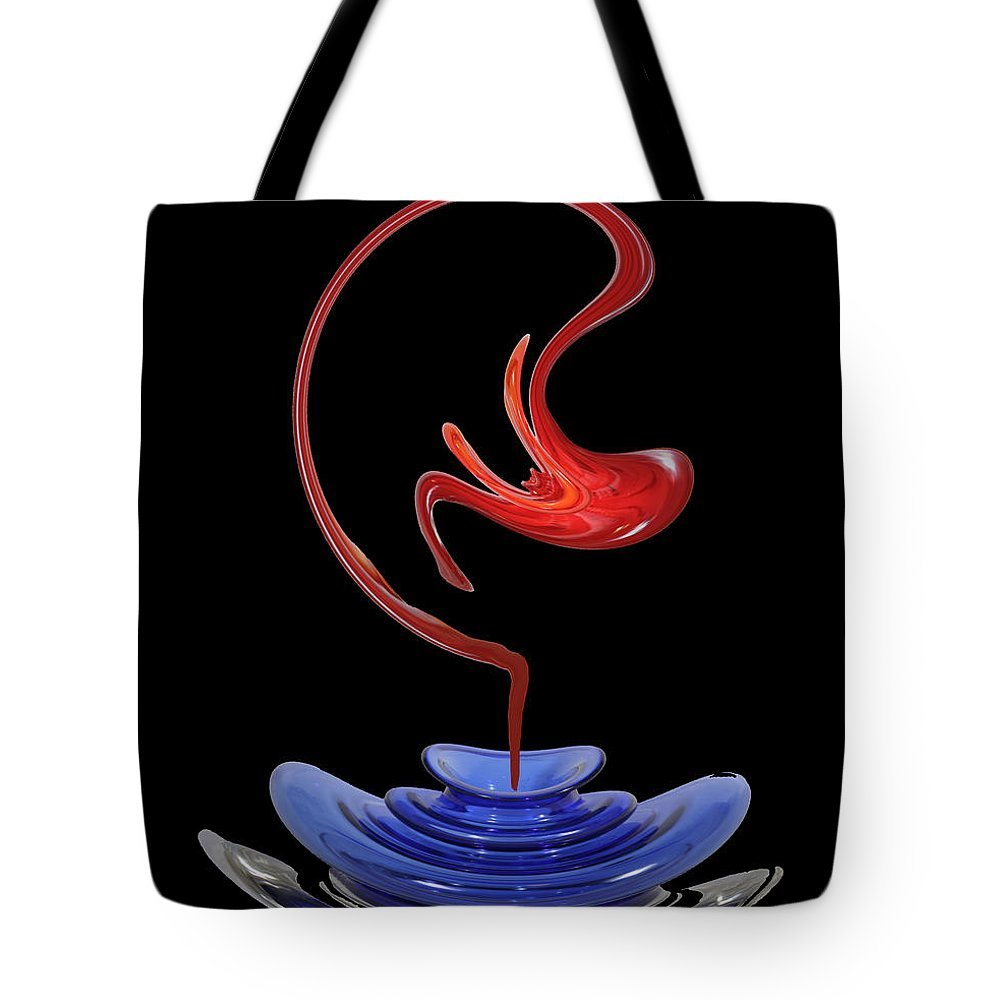 Genie Tote Bag featuring the photograph Genie Out Of Bottle by Merja Waters