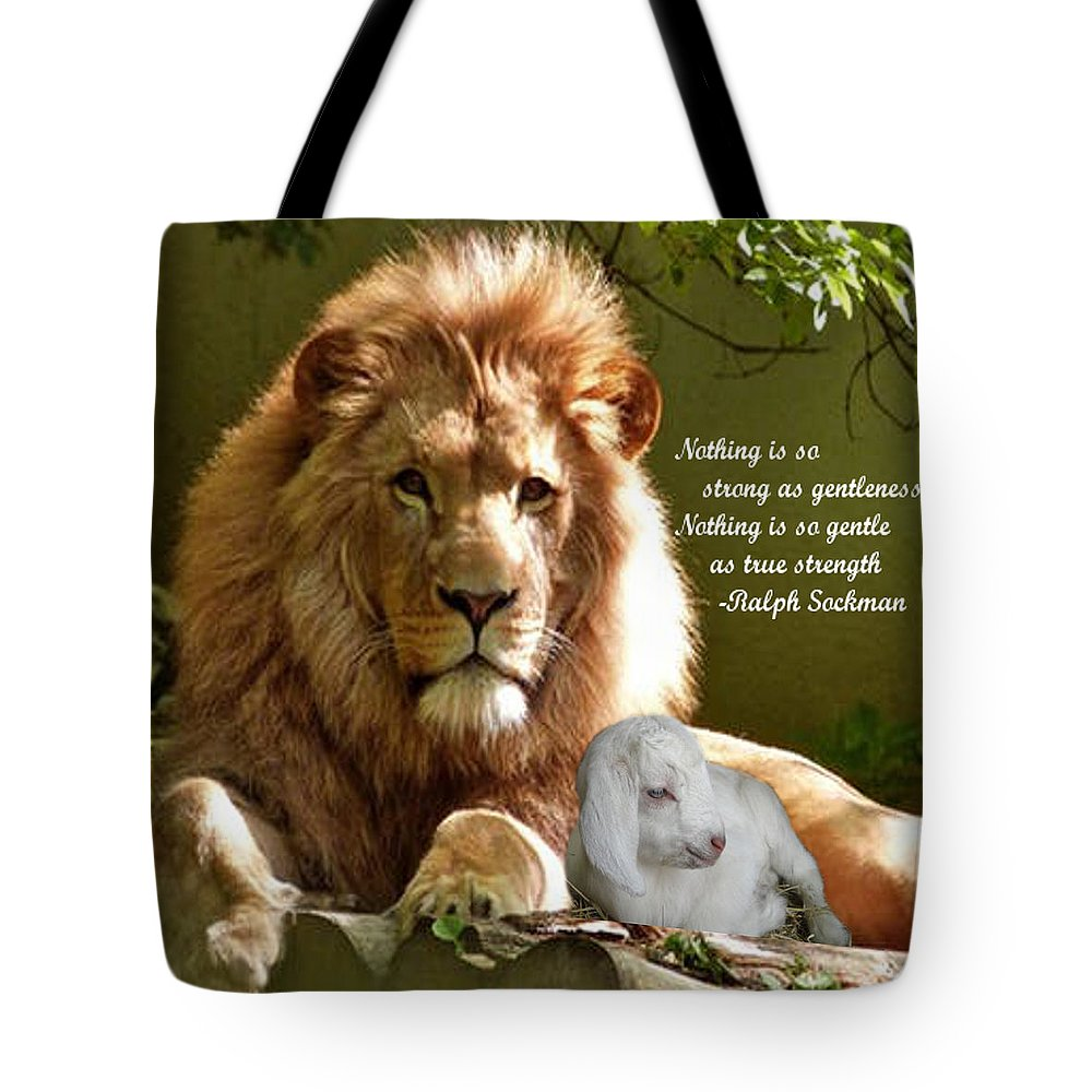 Photography Tote Bag featuring the photograph Gentle Strength by L Lindall
