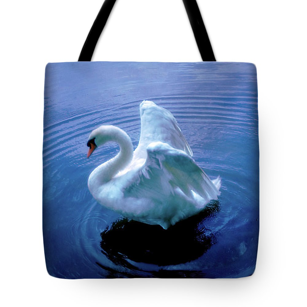 Swan Tote Bag featuring the photograph Gentle Strength by Marie Hicks