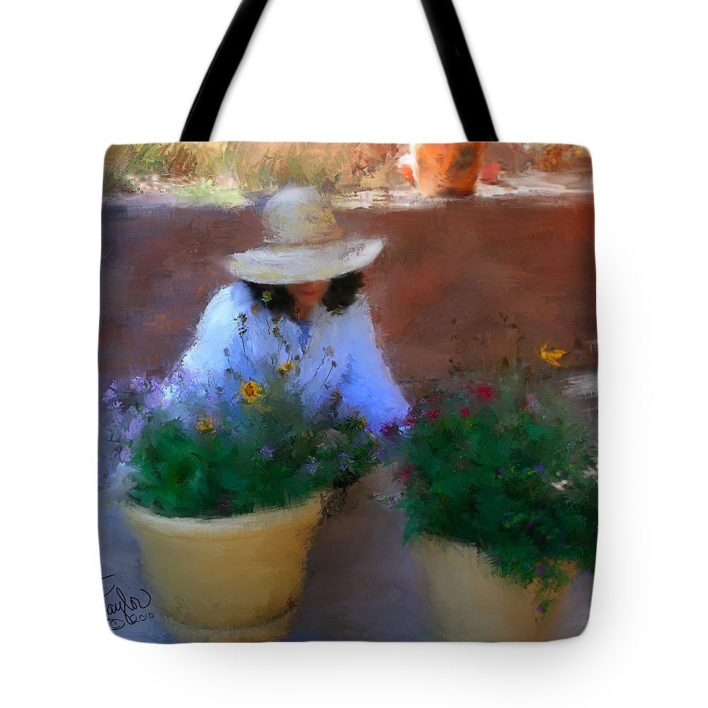 Woman Tote Bag featuring the painting Gently Does It by Colleen Taylor