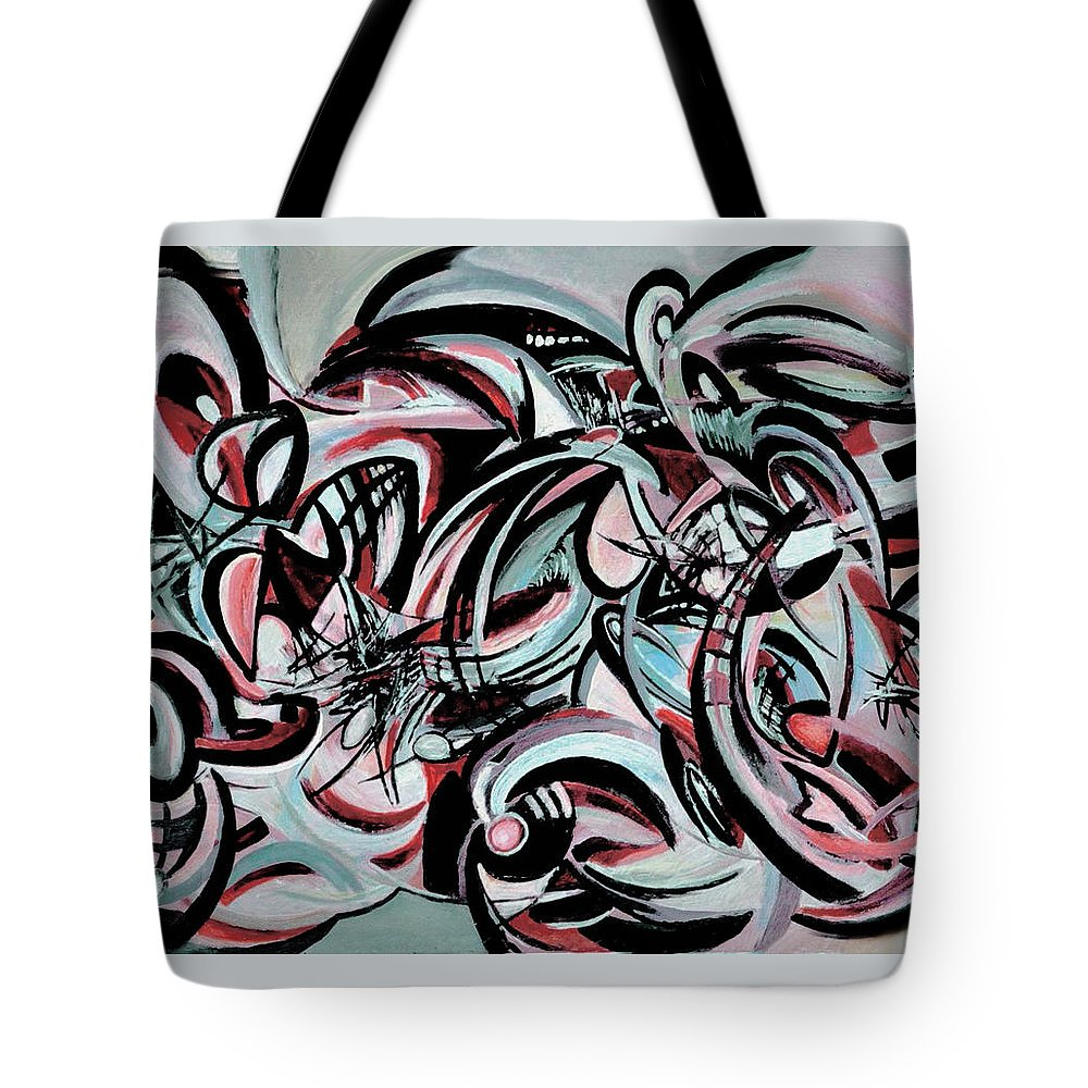 Geometric Abstraction Tote Bag featuring the painting Geometric Abstraction by Carmen Fine Art