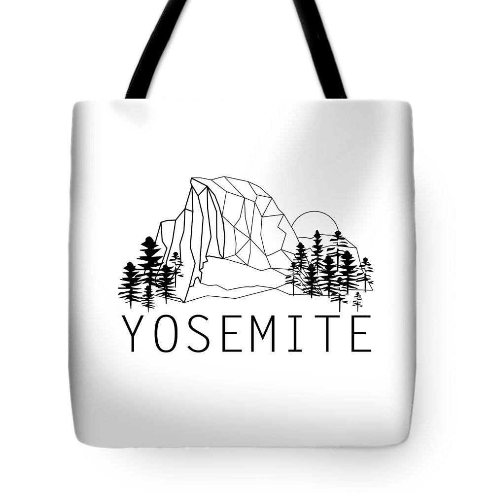 Tote Bag featuring the digital art Geometric Half D by Grant Miller