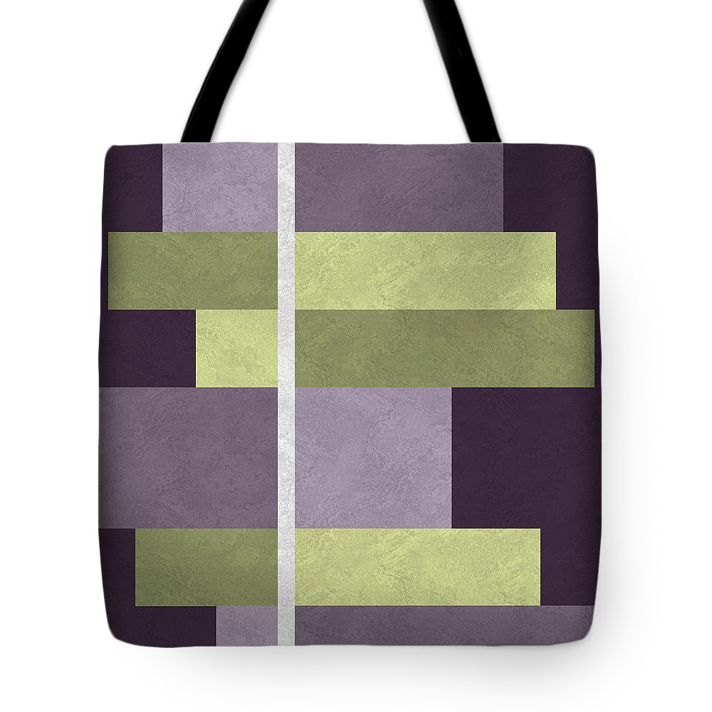 Geometric Tote Bag featuring the digital art Geometric Marble 05 by Absentis Designs