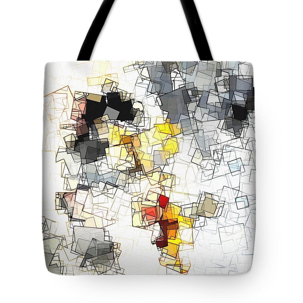 Geometric Abstraction Drawings Tote Bags