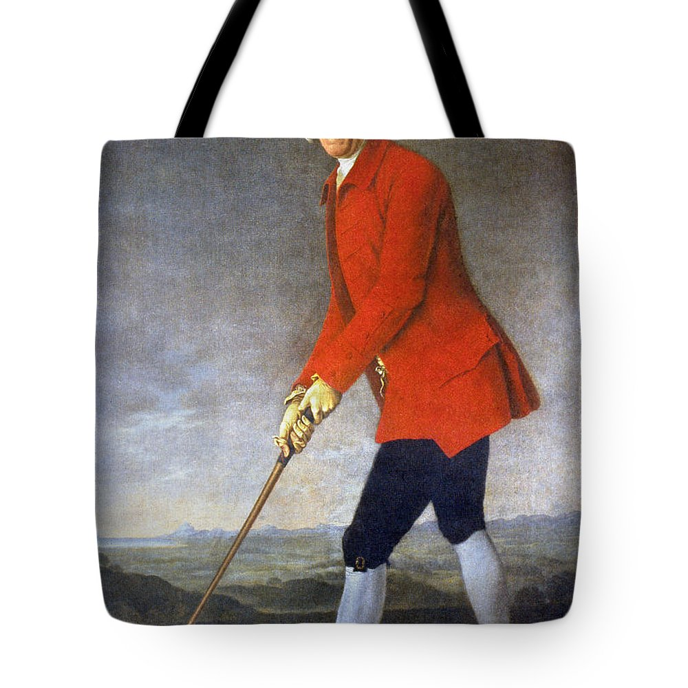 18th Century Tote Bag featuring the photograph George Chambers: by Granger