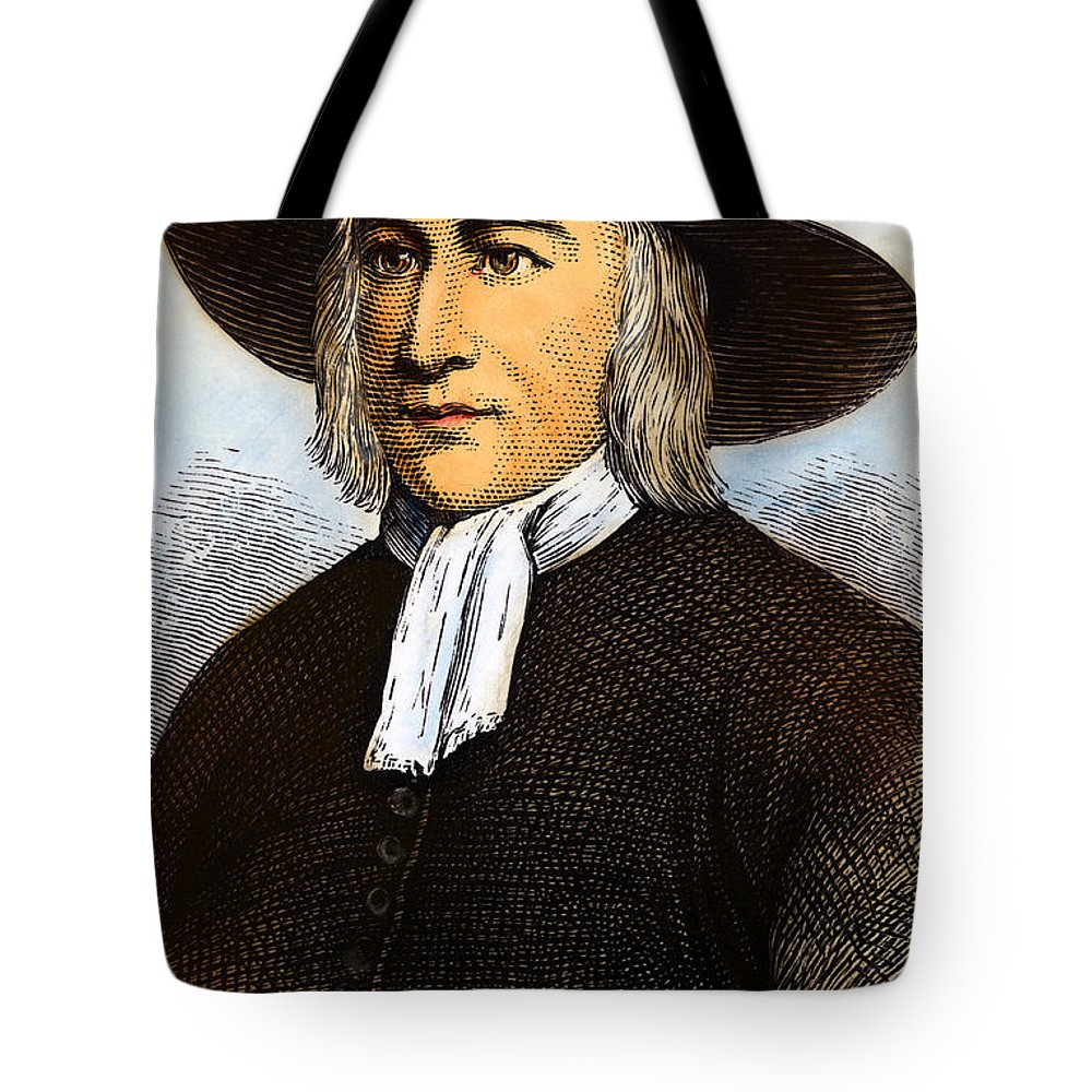 English Tote Bag featuring the drawing George Fox, 1624-1691 by Granger