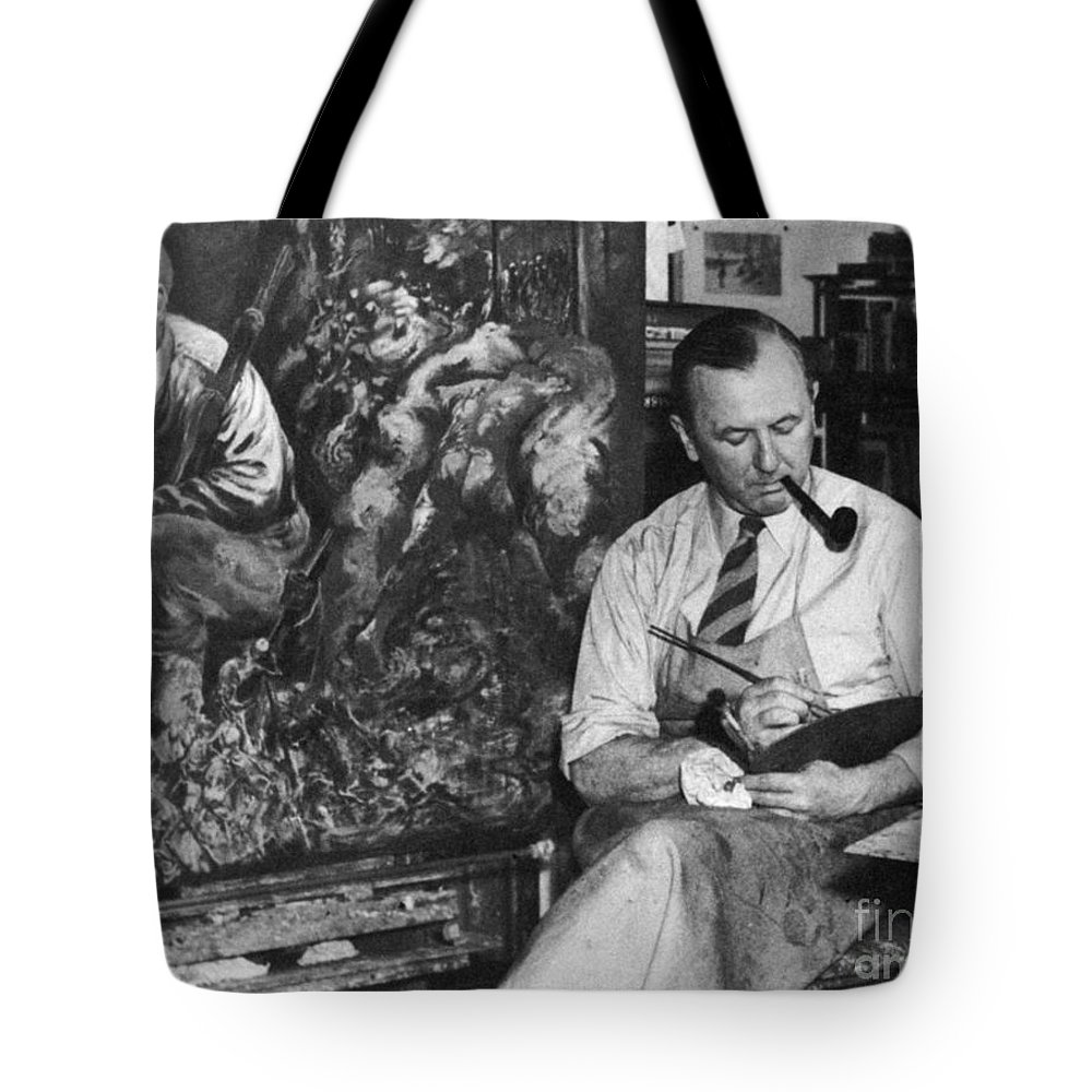 1944 Tote Bag featuring the photograph George Grosz (1893-1959) by Granger